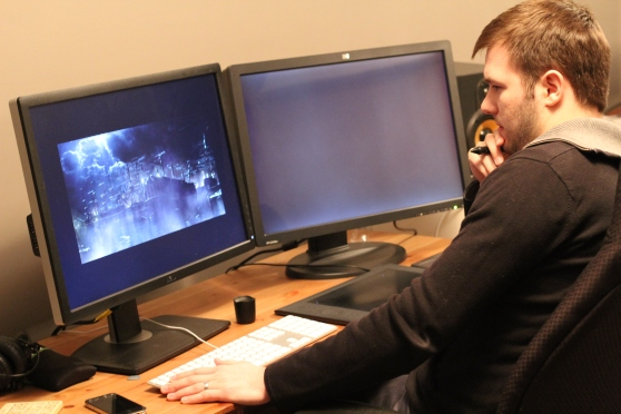 Chris works on the prison ship sequence.