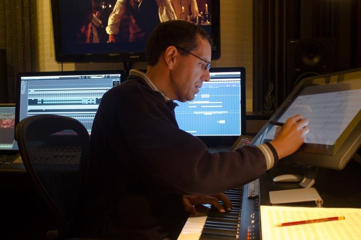 Jurgen digitally sketches a cue in his studio.